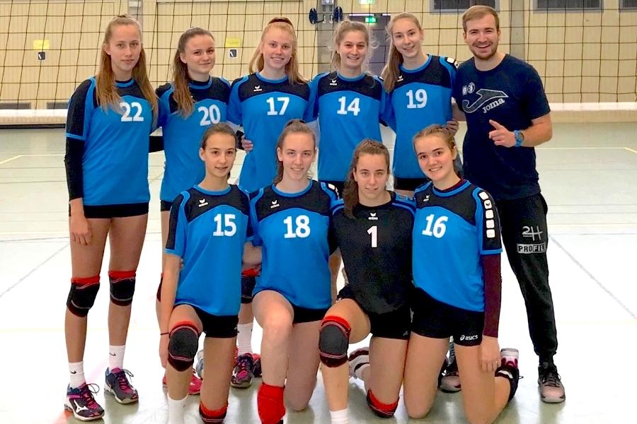 Volleyballerinnen gewinnen<br>Regionalentscheid