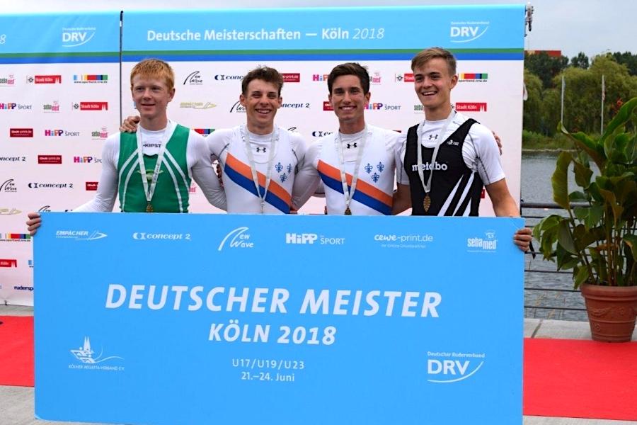 """Rudern — Gold, Silber, Bronze bei den <span class=""""caps"""">DJM</span>"""