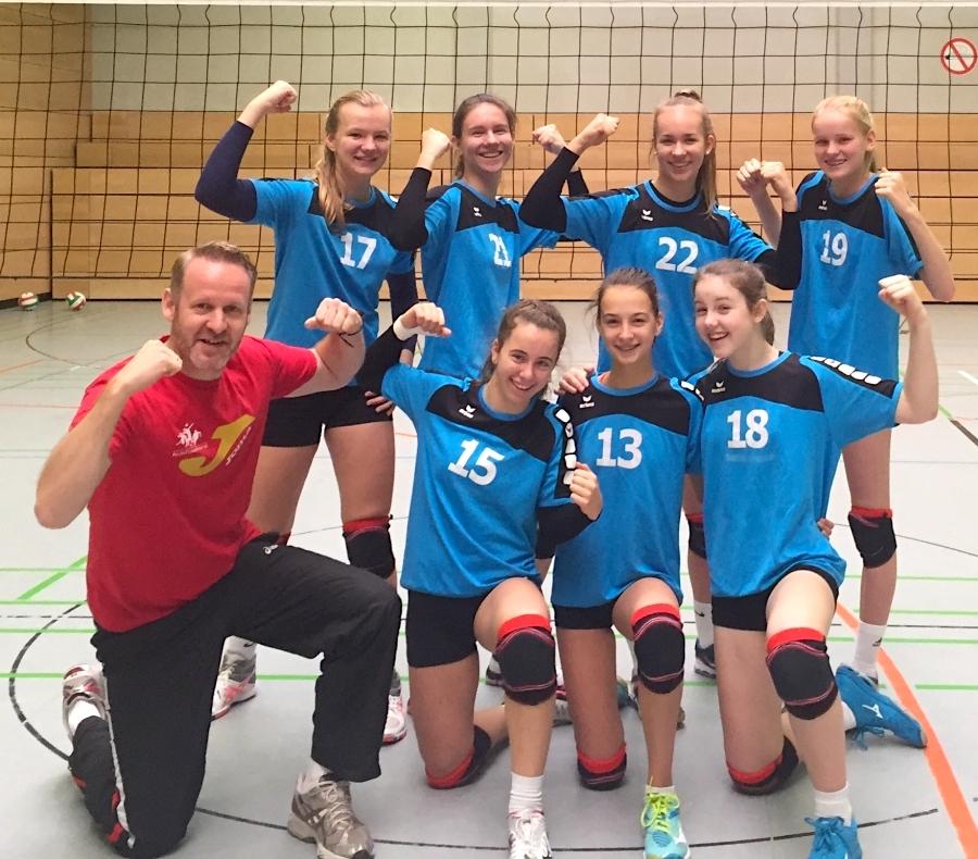 WKIII-Volleyballerinnen gewinnen Schulamtsenscheid