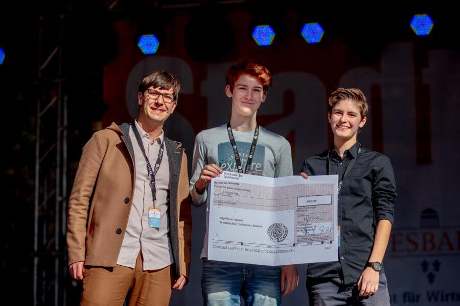 1. Platz beim Wiesbadener Schulradeln 2018
