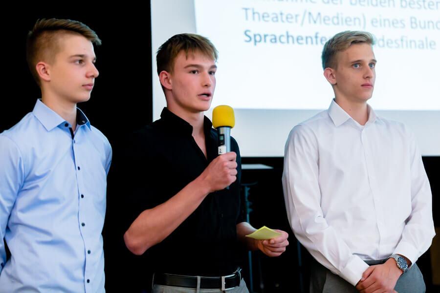 Premierenfeier zum Fremdsprachen-Bundeswettbewerb