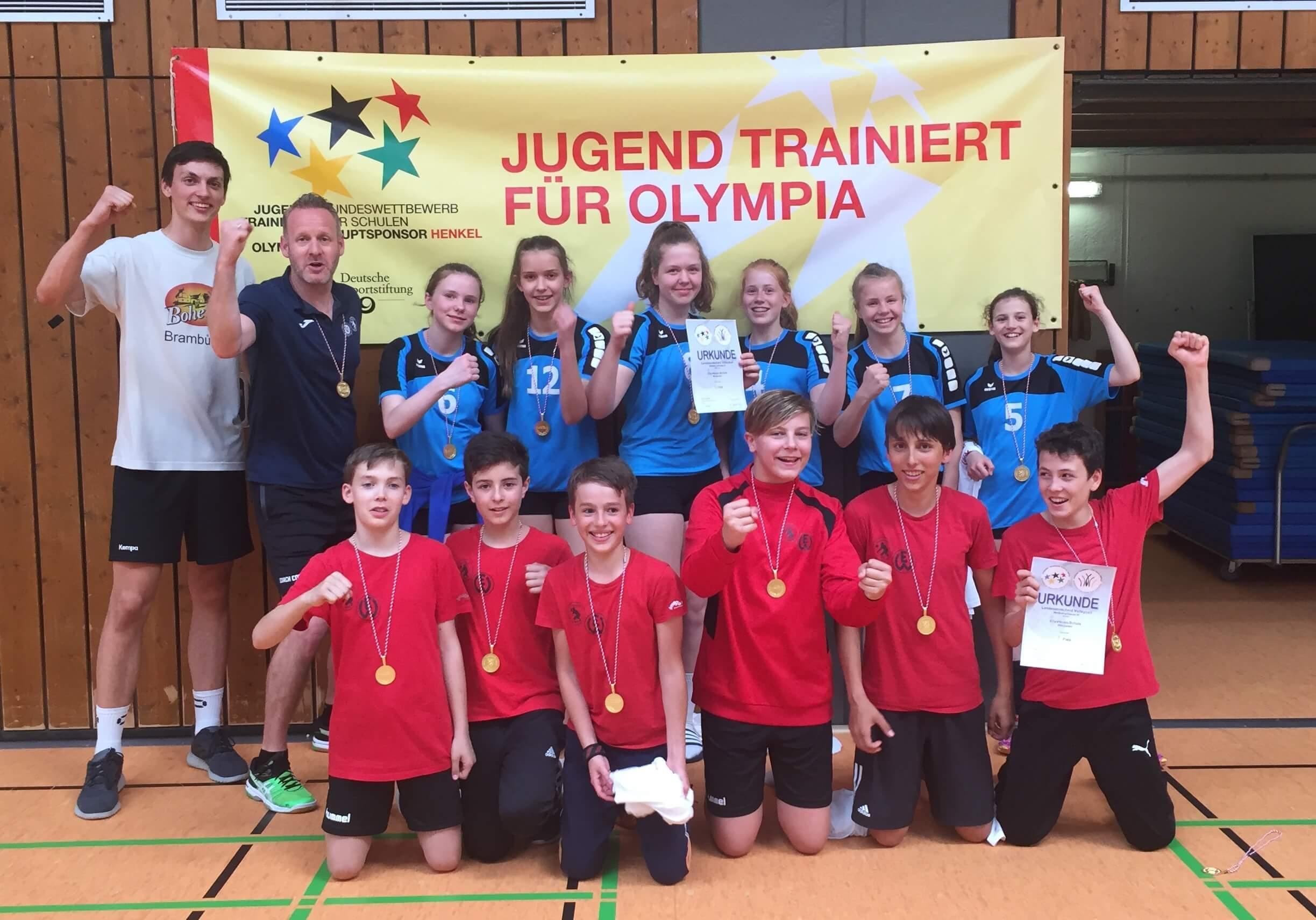 Doppelter Landessieg bei Jugend trainiert für Olympia!