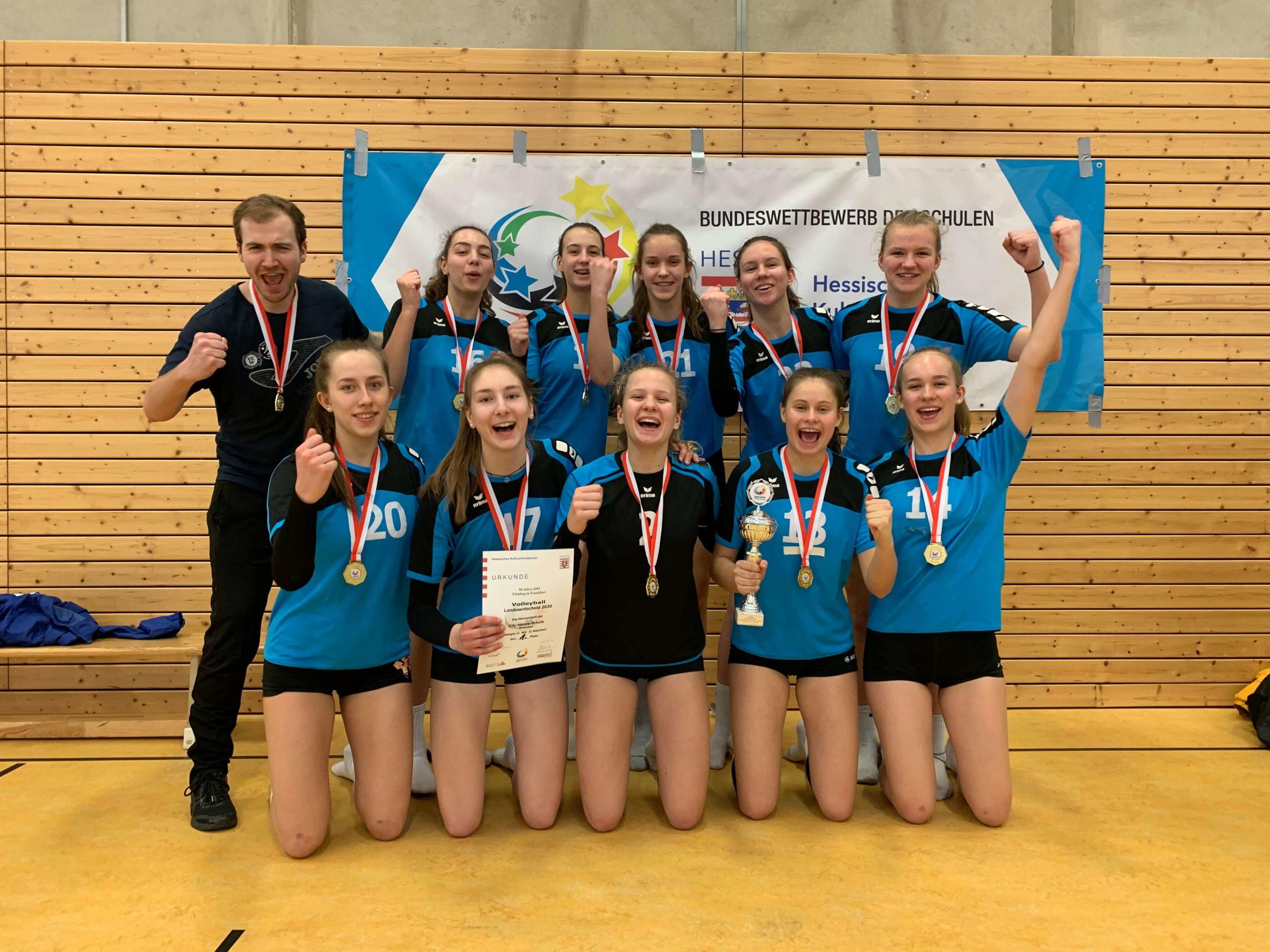 Doppelter Landessieg für die EHS-Volleyballerinnen