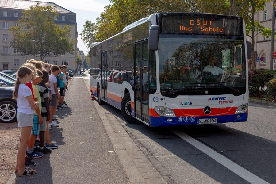 Das ESWE-Busverkehrstraining