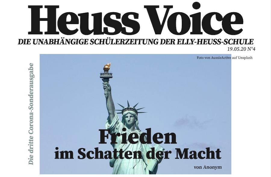 Mai-Ausgabe der Heuss Voice Schülerzeitung