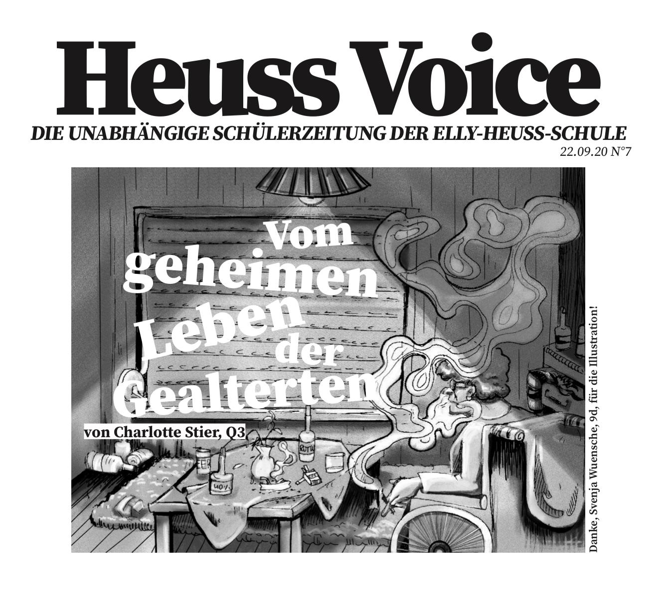 September-Ausgabe der Heuss Voice Schülerzeitung