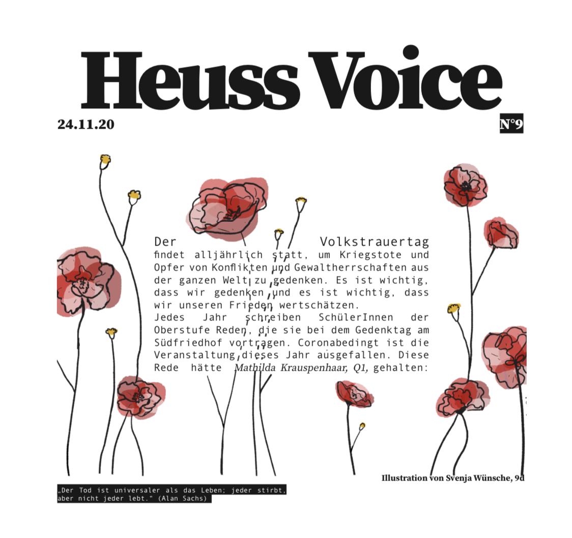November-Ausgabe der Heuss Voice Schülerzeitung