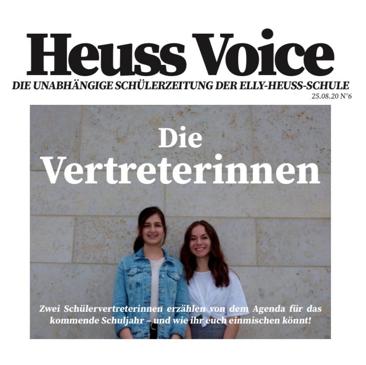 August-Ausgabe der Heuss Voice Schülerzeitung